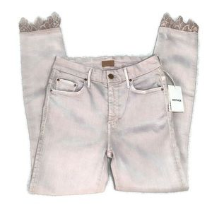 MOTHER Jeans - MOTHER High Waist Looker Dagger Blush Ankle Jeans